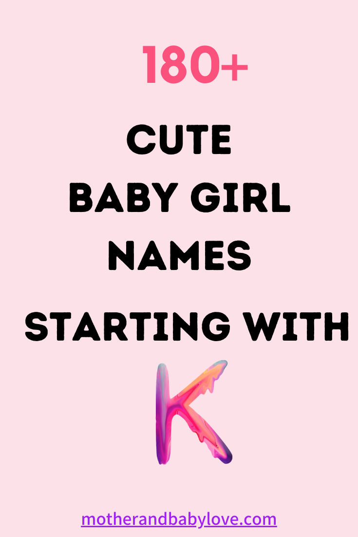 6+ Cute Baby Girl Names That Start With K  Cute baby girl names