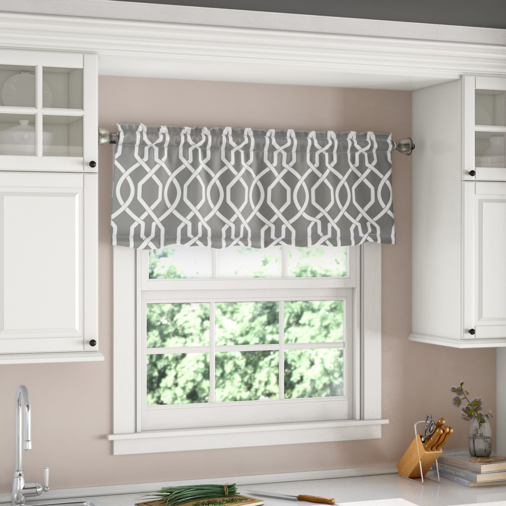 "Vance Room Darkening 5"" Window Valance  Window valance, Kitchen"