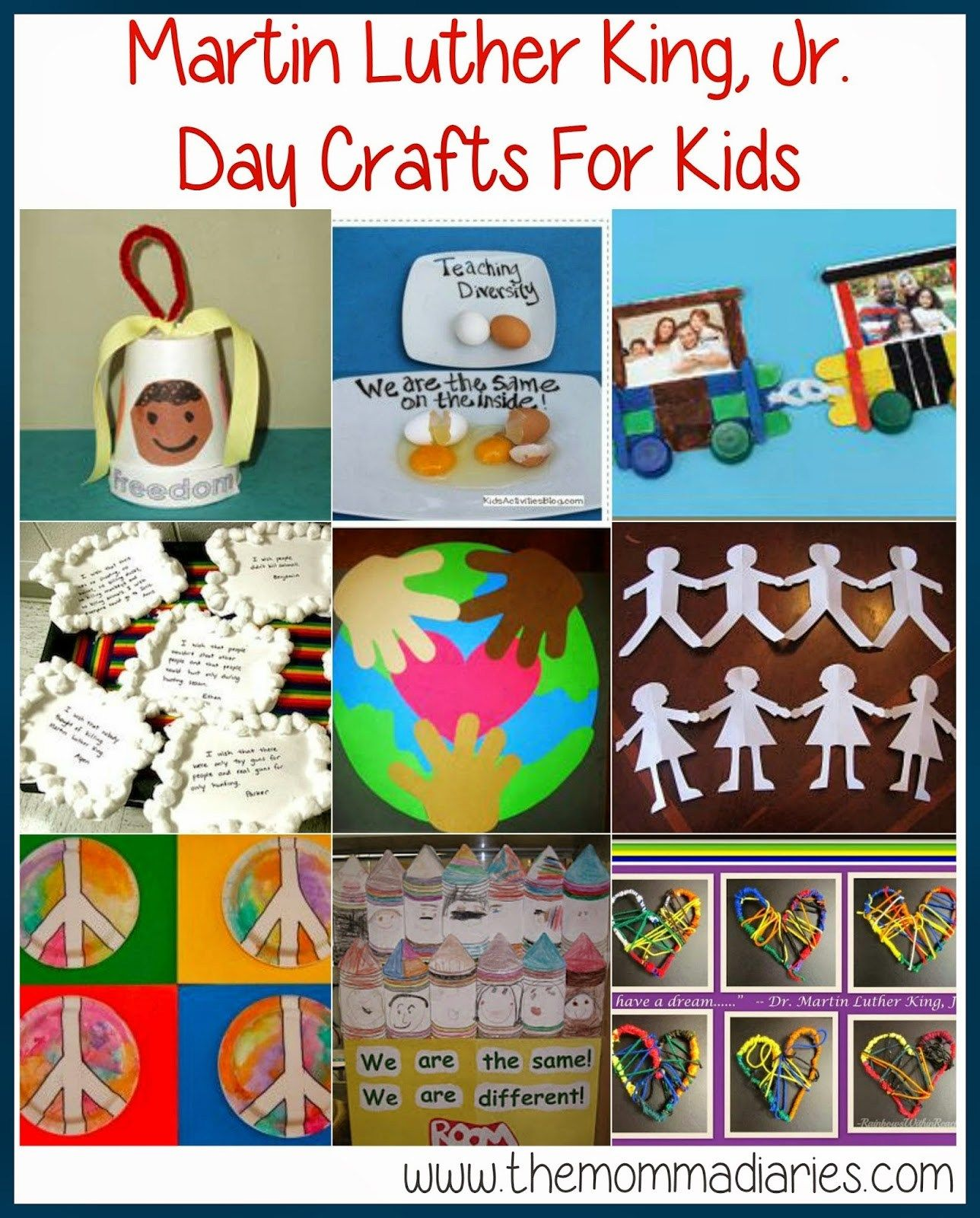 Martin Luther King Jr Day Crafts For Kids In