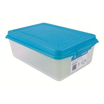 Briscoes Clear Storage Container With Blue Lid 10l
