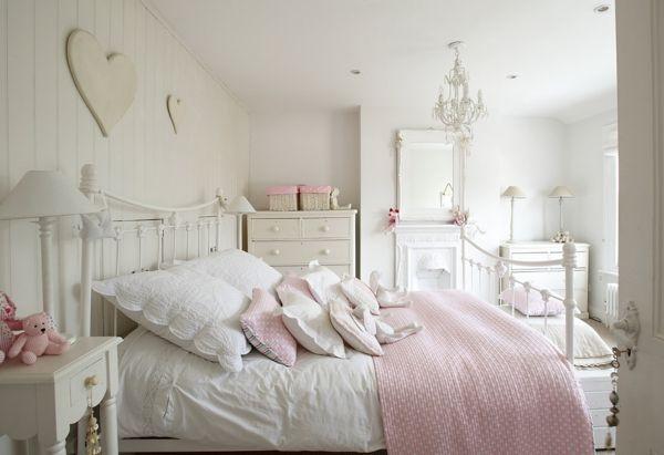 Schlafzimmer Shabby Chic schlafzimmer design shabby chic stil dekokissen weibliche