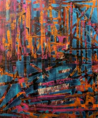 "Saatchi Art Artist Davida Gatti-Reis; Painting, ""CITY OF BRILLIANT DREAMS. SOLD"" #art"