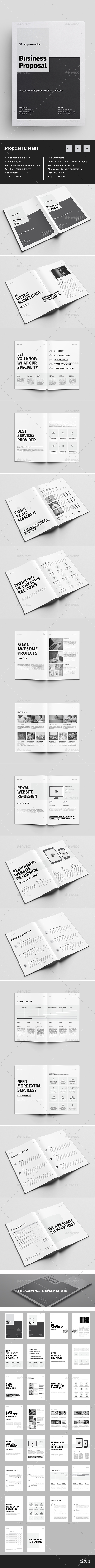 30 Pages Clean Business Proposal Template InDesign INDD