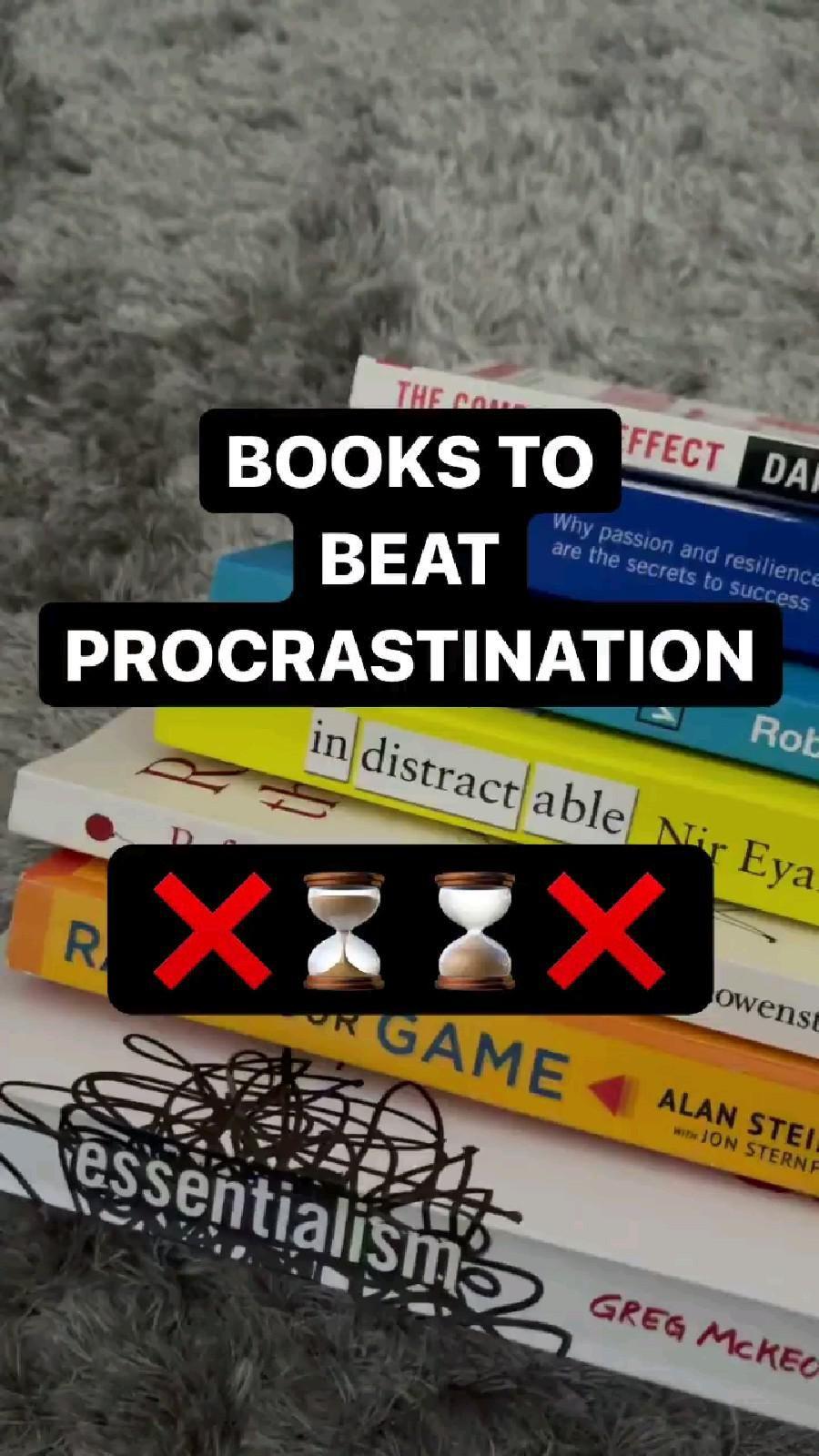 Books To Beat Procrastination!!