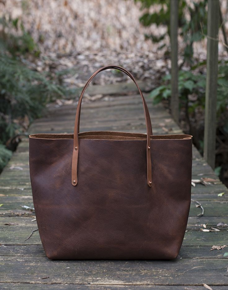 5e27ccf7b0c5 It ends here - the search for the THE perfect leather tote. Made with full  grain kodiak leather