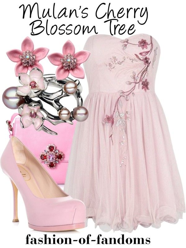 Mulan S Cherry Blossom Tree By Waveyourwands97 Liked On Polyvore Fandom Fashion Disney Dresses Disney Inspired Fashion