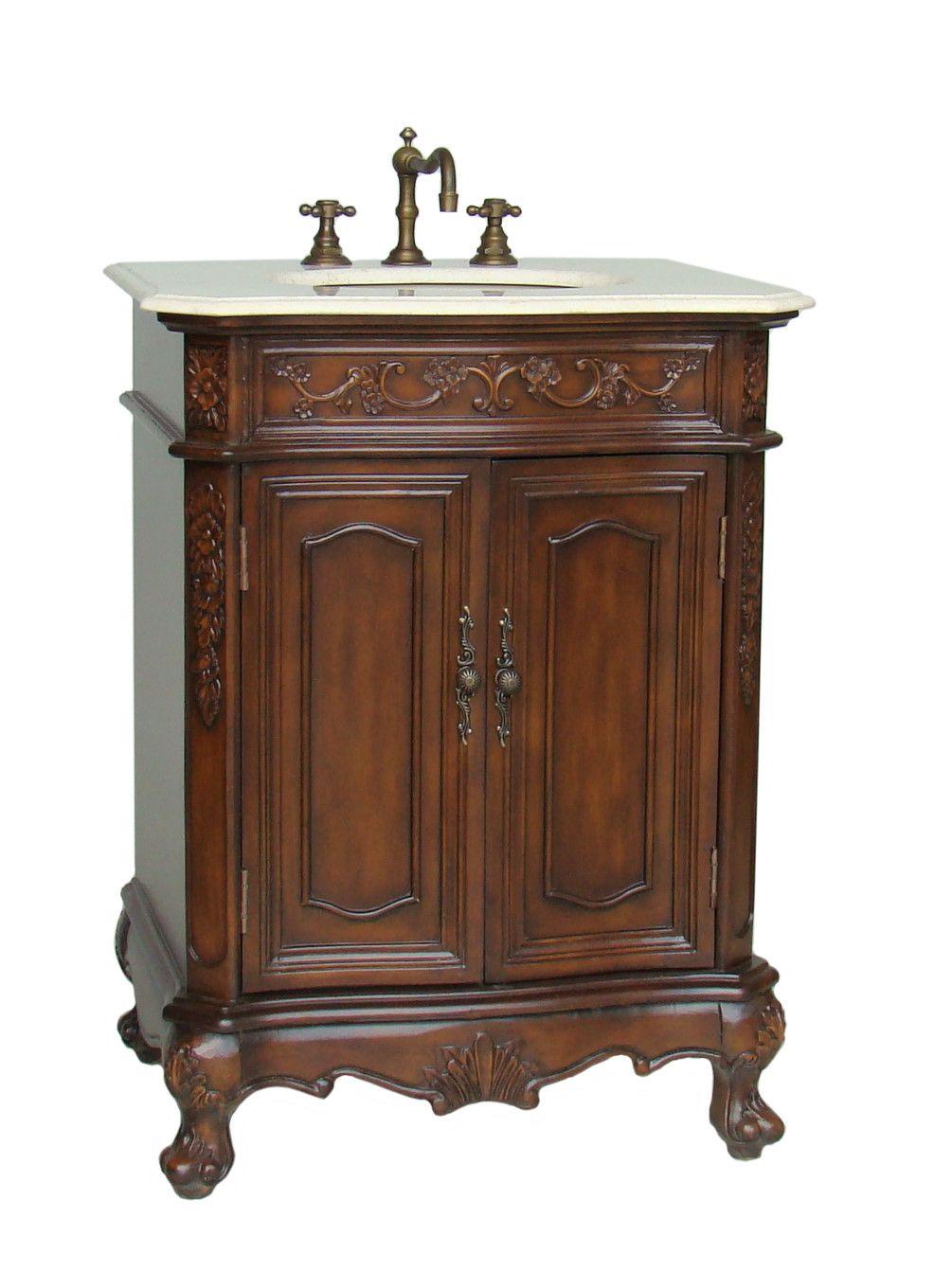 Adelina 27 Inch Old Fashion Two Doors Bathroom Vanity Bathroom