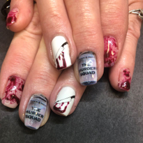 Photo of Day 297: Happy Skeletons and Ghosts Nail Art