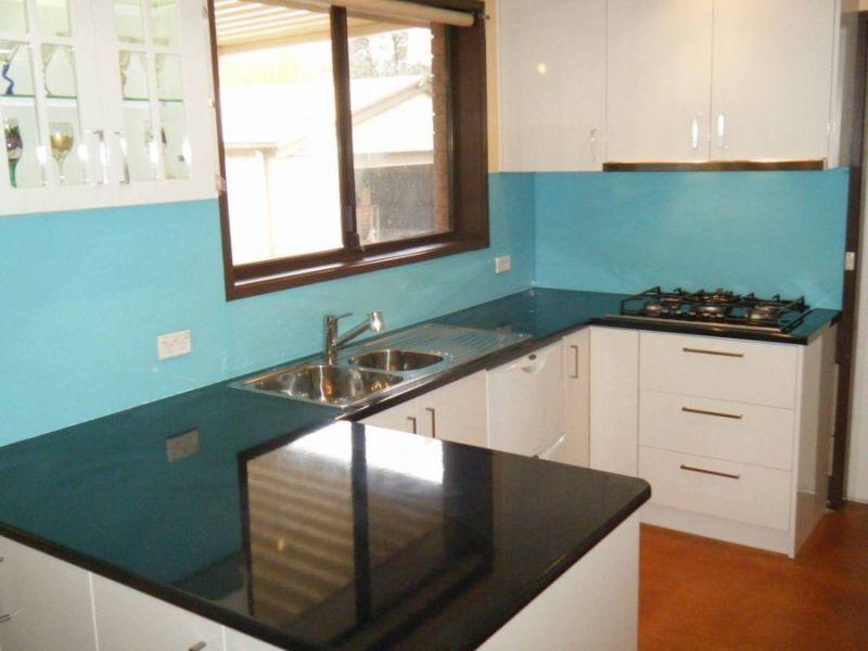 Not Aqua Blue But Kitchen Splashback
