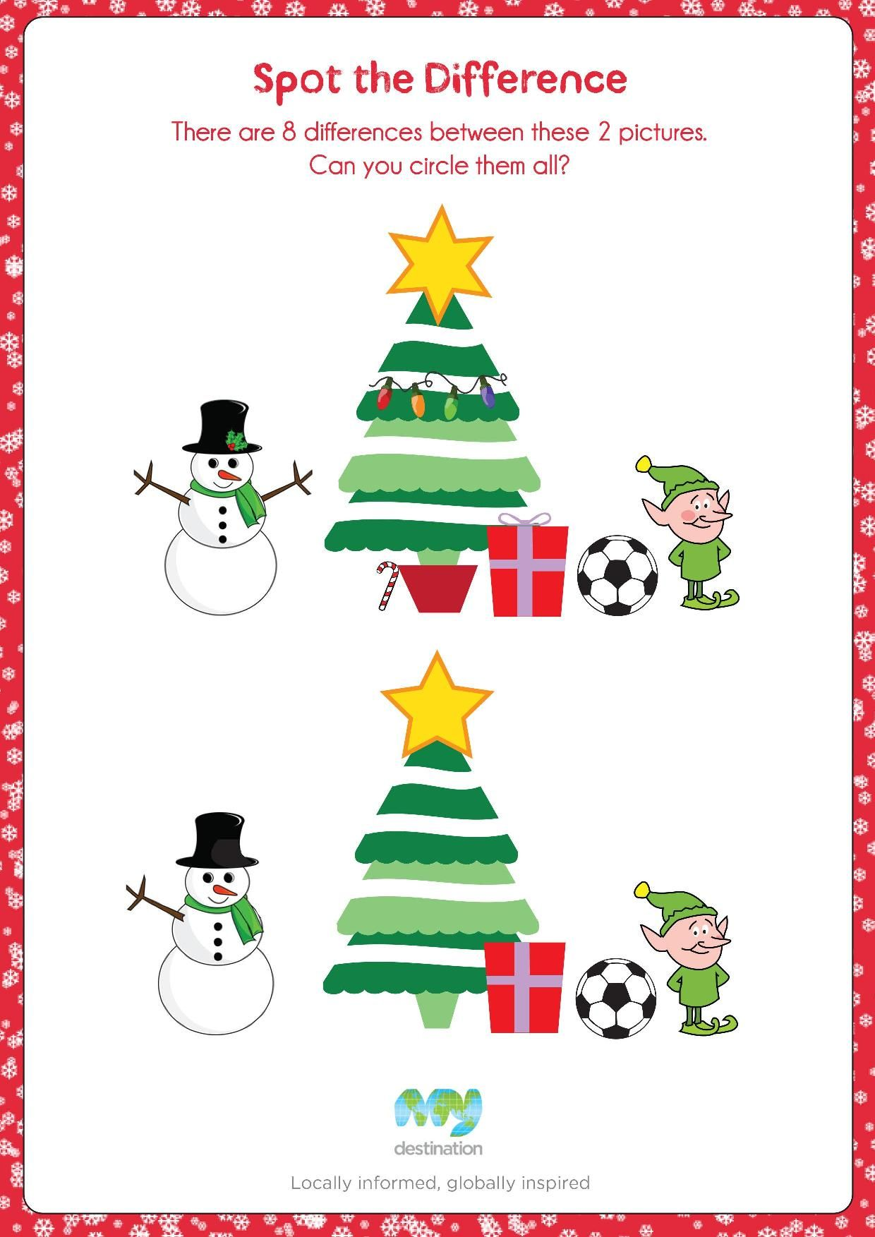 Christmas Tree Spot The Difference Download This Puzzle