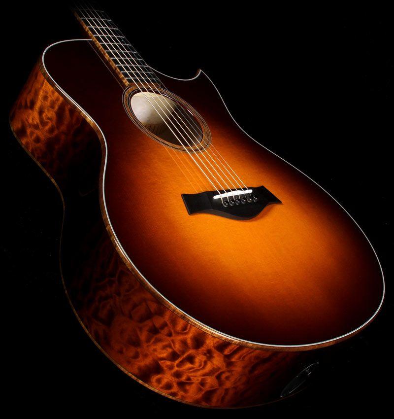Taylor Custom Shop Bto Grand Symphony Quilt Maple Acoustic Electric Guitar Desert Sunburst Guitar Acoustic Electric Guitar Taylor Guitars Acoustic