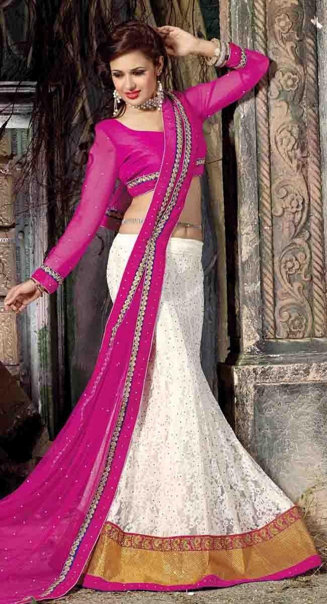 Tantalizing Off White #Lehenga #Choli | Indian Fashion | Pinterest