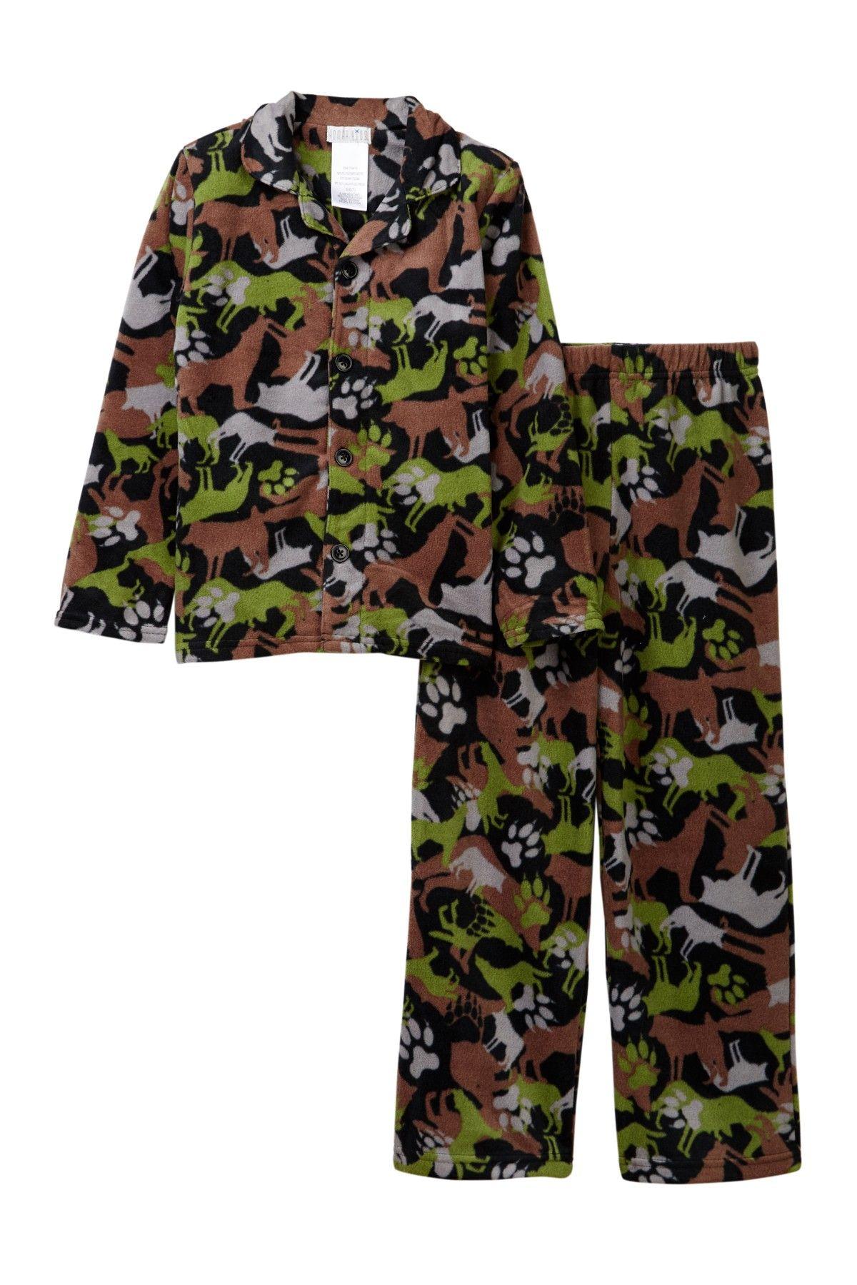 f21d0cefa Wolf Camo Pajama Set (Little Boys & Big Boys) | Products | Pajamas ...