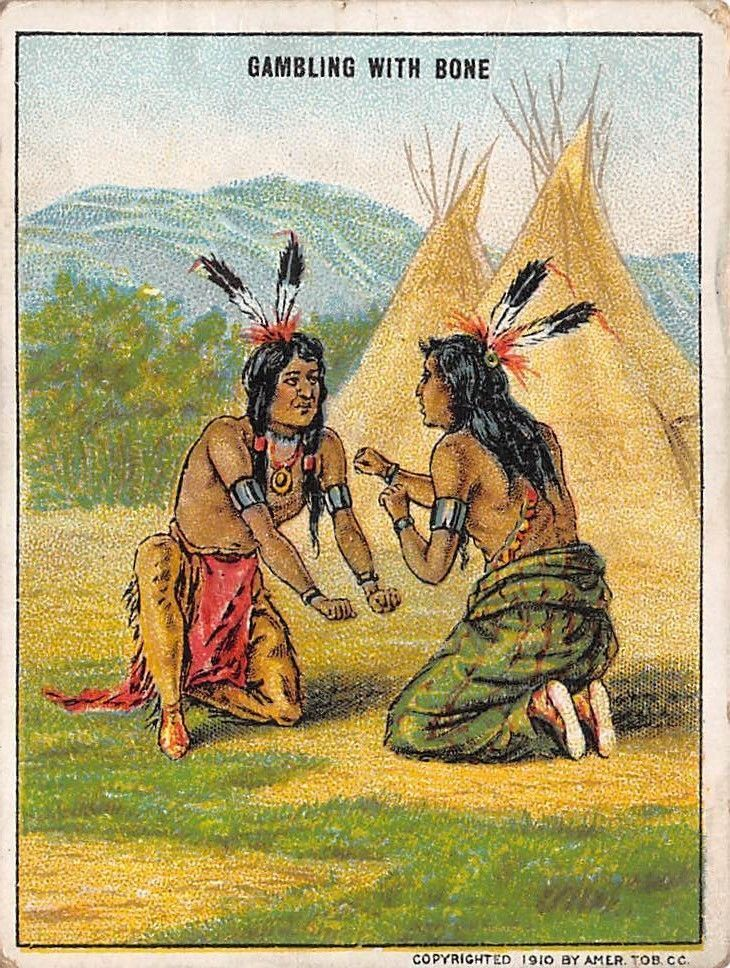 SOLD! Antique 1910 American Tobacco Trade Card Indian