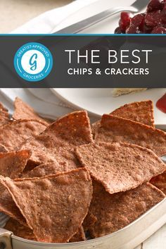 These crunchy bites satisfy without any neon-colored powders, artificial flavors, or piles of... #chips #healthy #snacks http://greatist.com/eat/best-chips-crackers-for-healthy-snacking