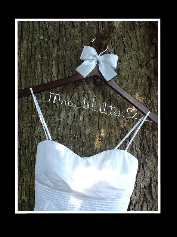 Personalized Bridal Wedding Hanger. Bridal Hanger. Wedding Hanger. Bridal Party. $16.99, via Etsy.