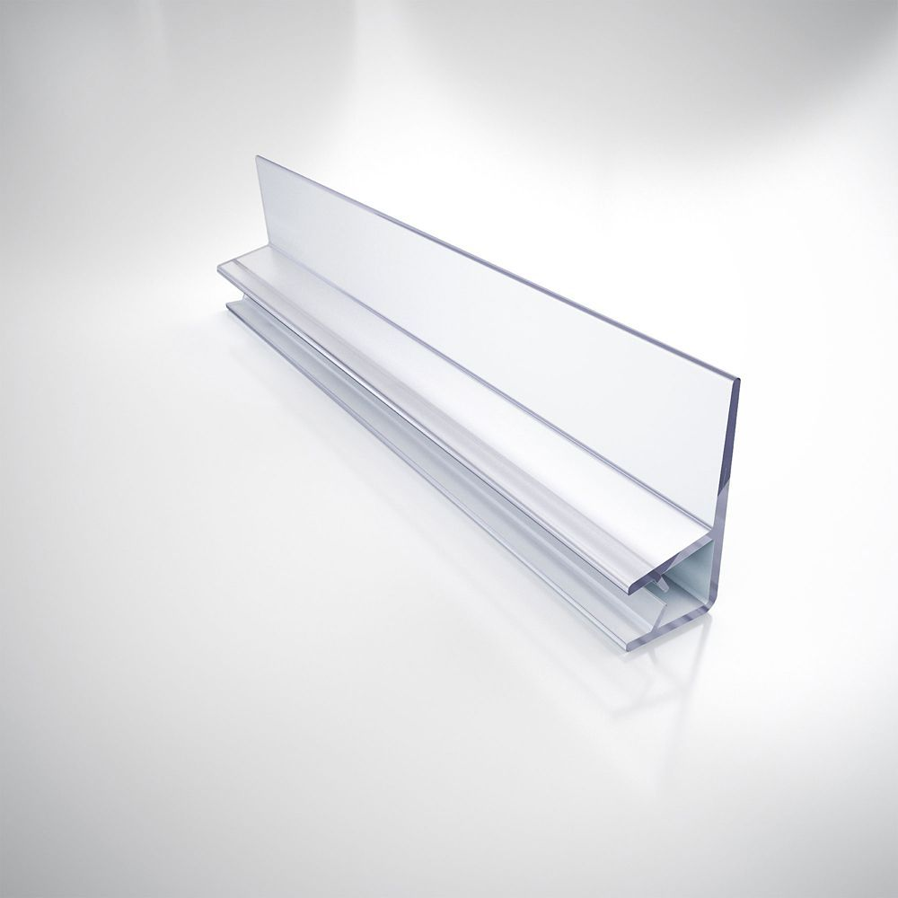 304d2 6 Clear Vinyl Door Seal 76 Inch Length For 1 4 Inch 6 Mm Glass Shower Door Vinyl Doors Shower Doors Door Sweep