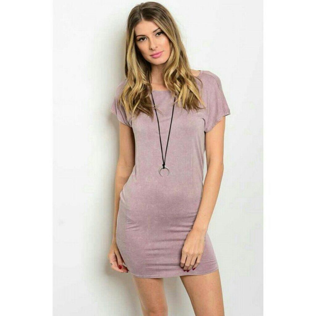 Lavender T-Shirt Dress