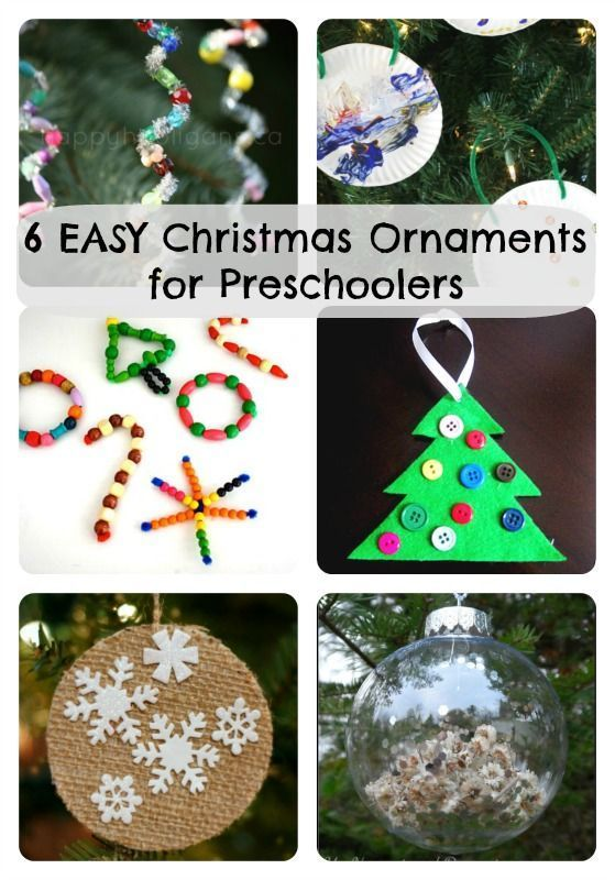 6 Easy Christmas Ornaments For Preschoolers To Make How Wee Learn Easy Christmas Ornaments Preschool Christmas Crafts Christmas Crafts