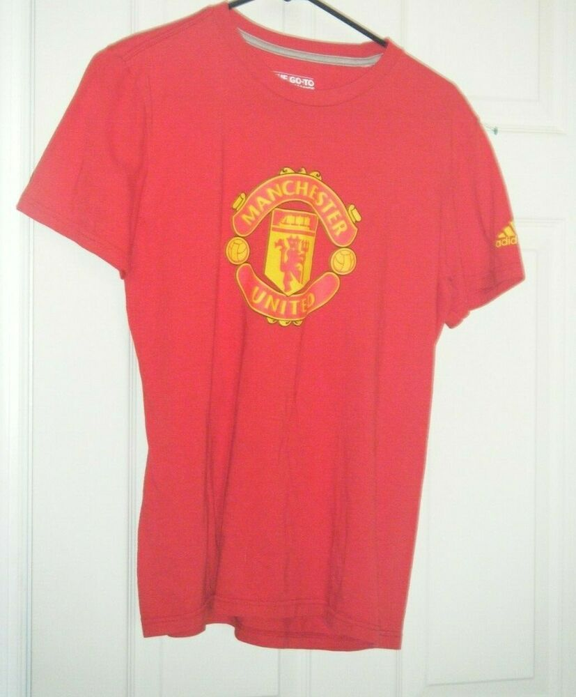 Sports Mem, Cards & Fan Shop New Adidas Climacool Manchester United Short Sleeve Soccer Jersey Boys Xl