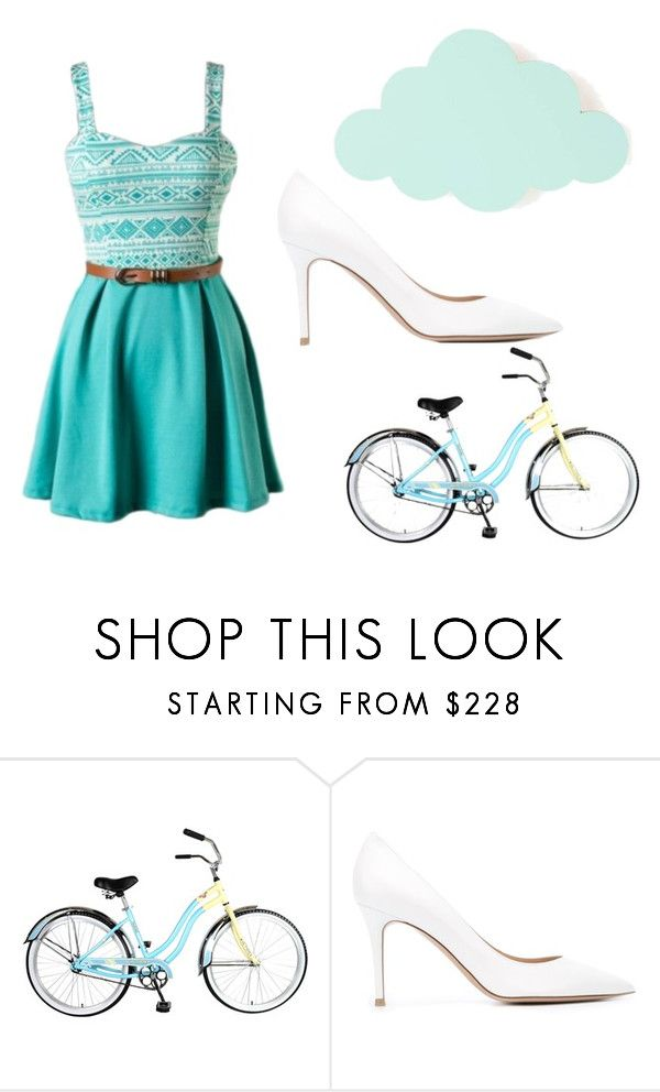 """Pretty in Pastel"" by idreamoutloud123 ❤ liked on Polyvore featuring ferm LIVING and Gianvito Rossi"