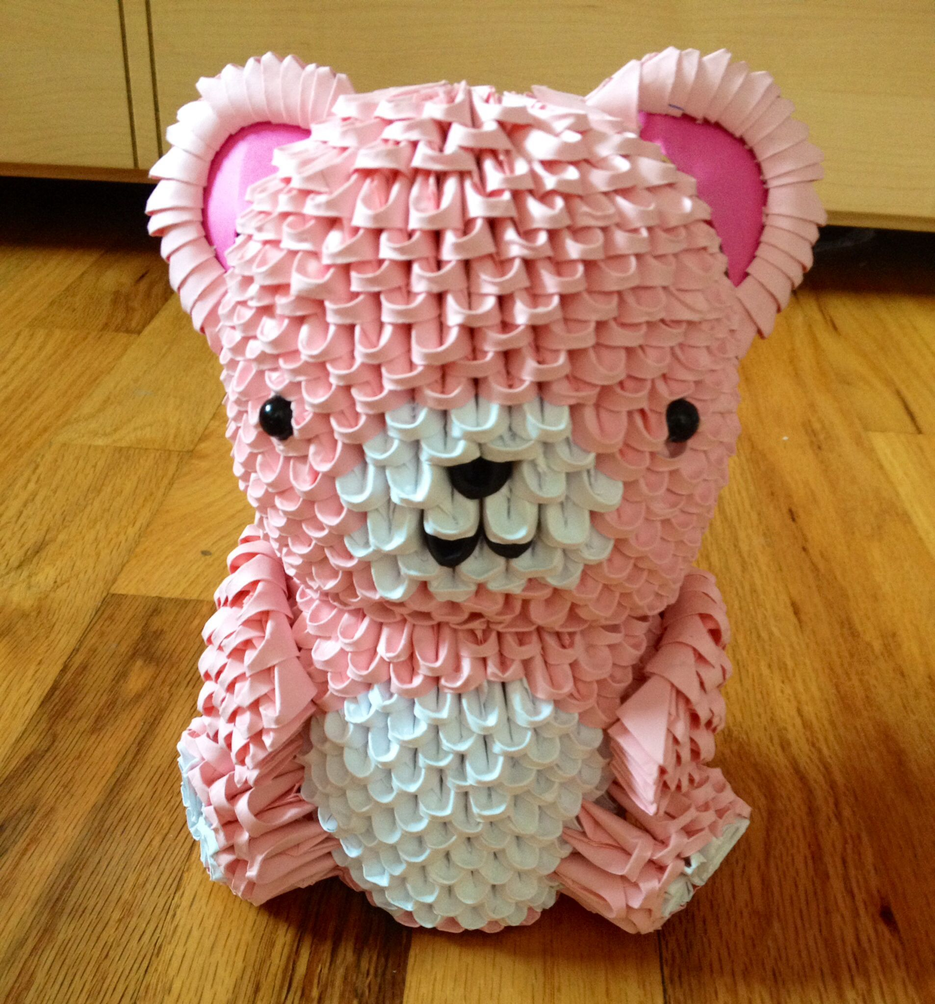 3D origami teddy bear | 3d origami | Pinterest | Origami ... - photo#47