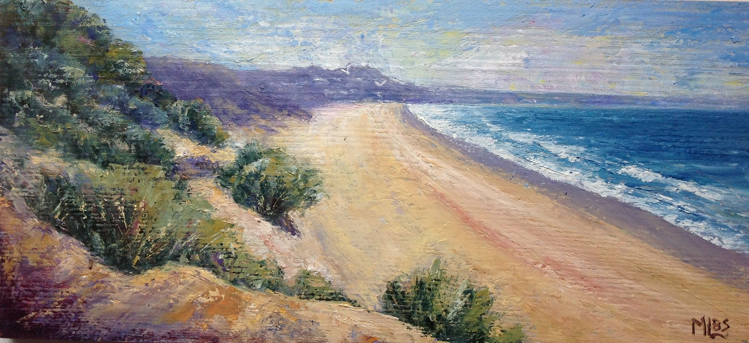 Day 21  Of the 30 in 30 painting challenge 'Ocean Grove