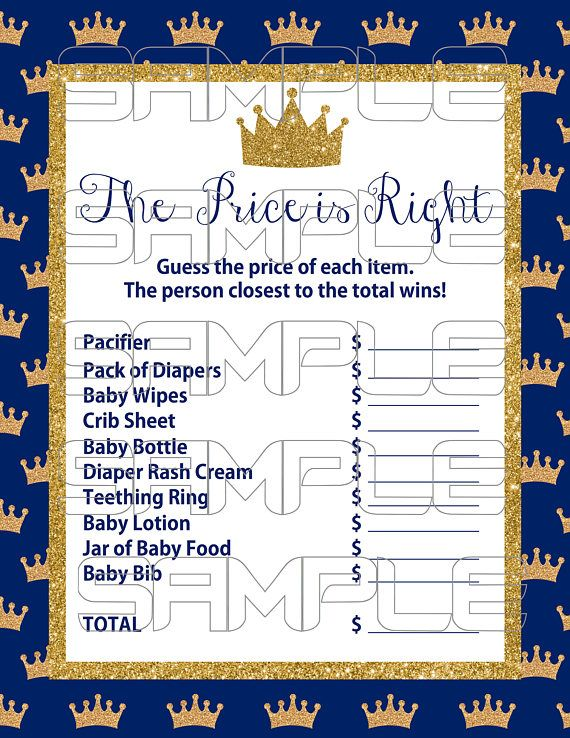 Royal Baby Shower Games Prince Baby Shower Royal Blue Baby Shower