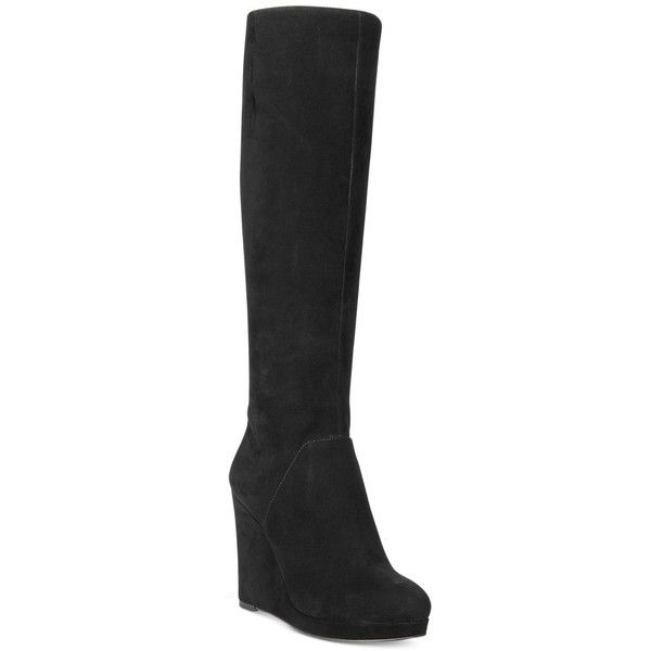 fbabd60955e3 Nine West Harvee Wedge Tall Boots featuring polyvore