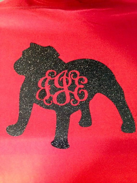 new product cb132 fa070 Monogram Georgia Bulldog shirt by MissSophiesBoutique on ...