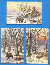 A WHITE WORLD.5 TUCKS OILETTE POSTCARDS No.9238 BY E.LONGSTAFFE