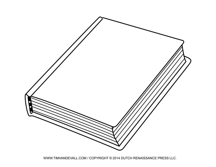 Free Blank Book Cover Template Book Report Reading Clip