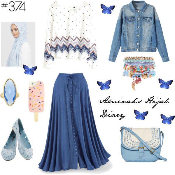 Güzel Blue Jeans Hijab style