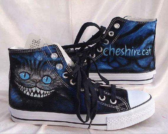Cheshire cat shoes hand paint shoes