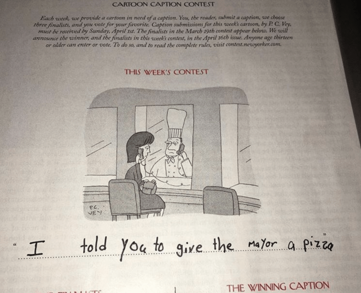 Hilarious 9 Year Old Kid Is Crushing The New Yorker S Caption Contest Caption Contest Hilarious Cartoon Caption Contest