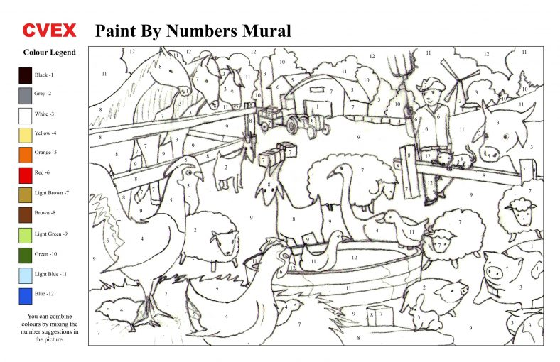 Adults Paint By Numbers Online Printable Templates 101 Coloring Paint By Number Color By Number Printable Coloring Books