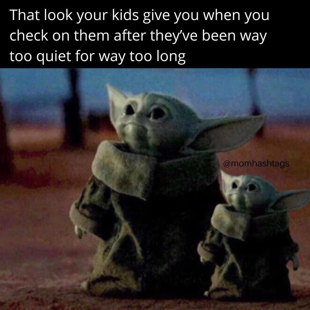 Mom Hashtags Memes And Humor On Instagram Right Before You See The Mess Follow Momhashtags Yoda Funny Yoda Meme Mom Memes