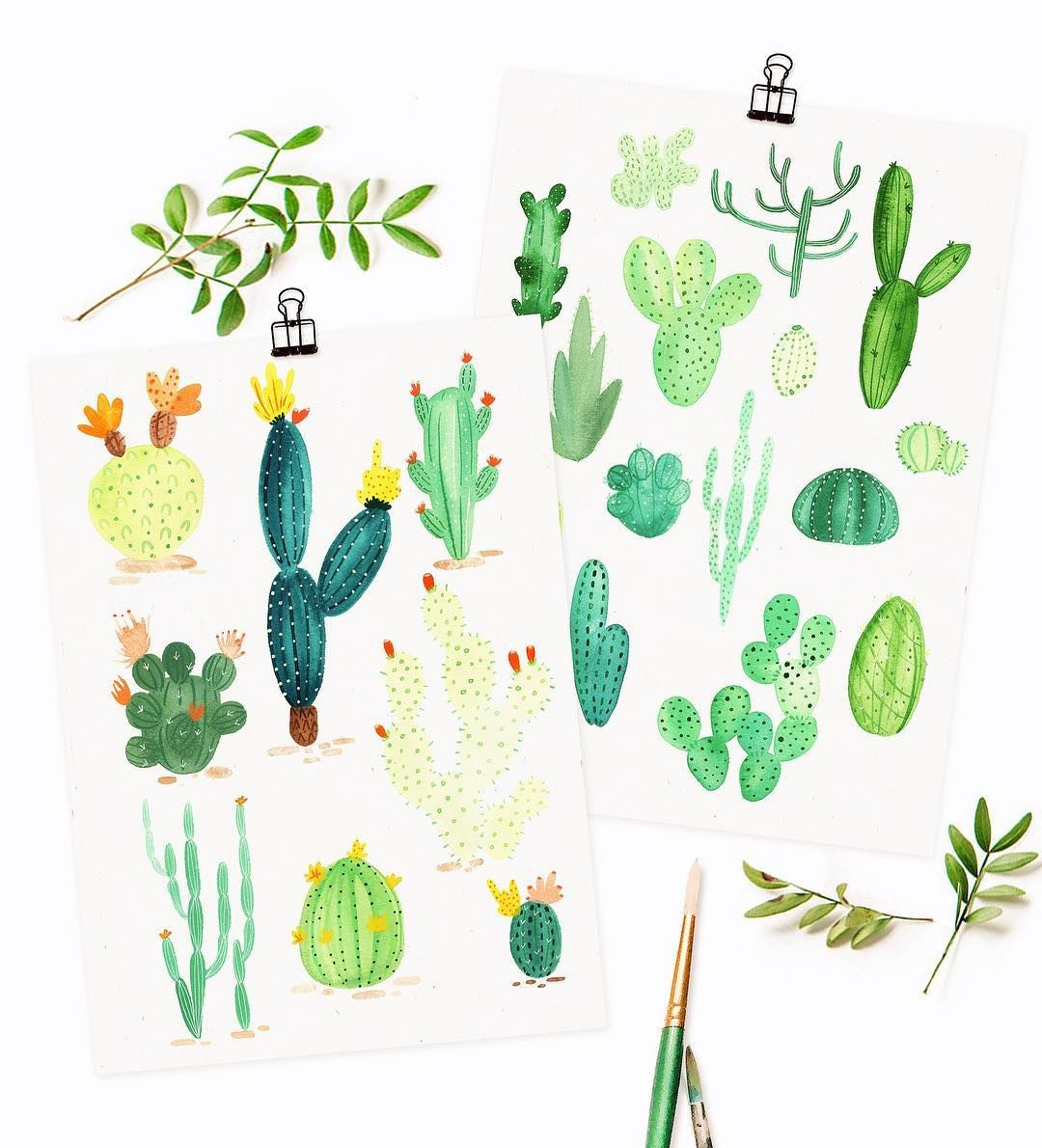 Hey y'all! 🌵 Happy Monday- Set of 2 cactus postcards are now in the shop! + greeting cards + prints! (If you order this week there will be a special goodie inside 😚✨) www.haveanicedayy.etsy.com