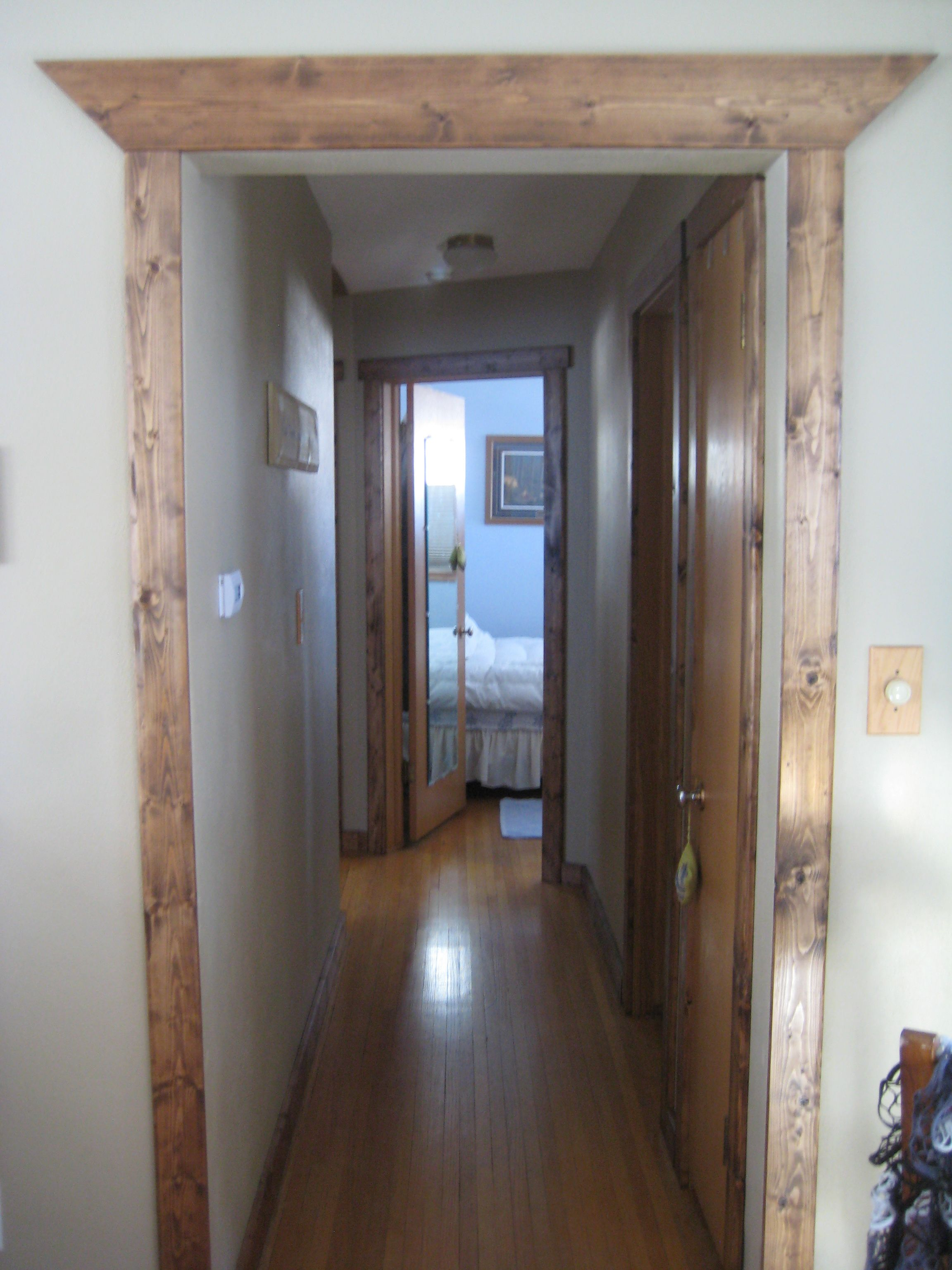 Our Knotty Pine Trim Project