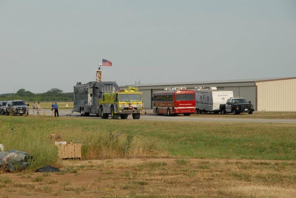 Denton County Command Post Denton Fire Airport Crash Truck Denton Police Command Trailer And Denton Fire Dept Rehab Bus Fire Dept Texas Police Police