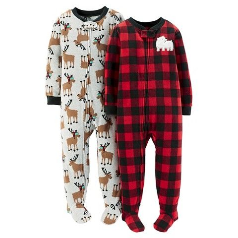 66423772c Just One You™ Made by Carter s® 2-Pack Fleece Footed Pajamas Red ...