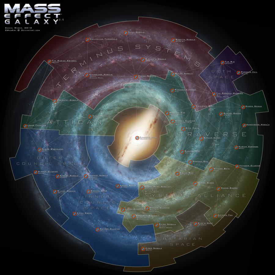 Mass Effect Galaxy Map 3 5 by DWebArtviantart on