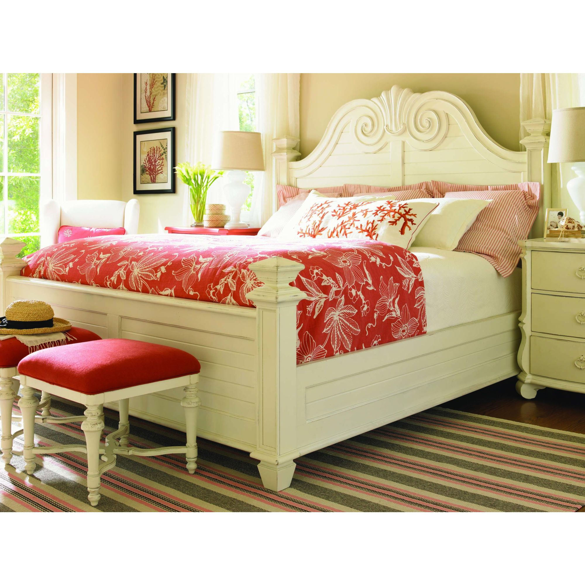 Lexington Bedroom Sets Magnificent Lexington Long Cove Southampton Panel Bedroom Set In Shellfor Decorating Design