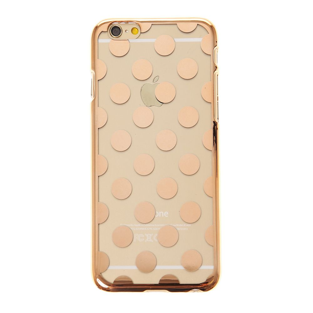 Rose Gold Polka Dot Phone Case - iPhone 6/6S | Phone case ...