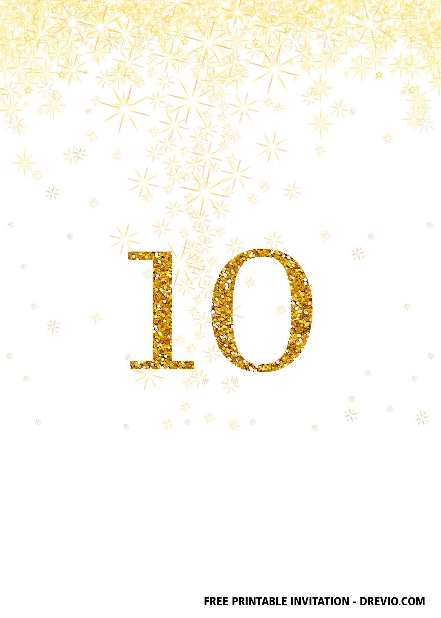 Free Printable 10th Birthday Invitation Templates Free Printable Birthday Invitations Free Birthday Invitation Templates Free Birthday Invitations