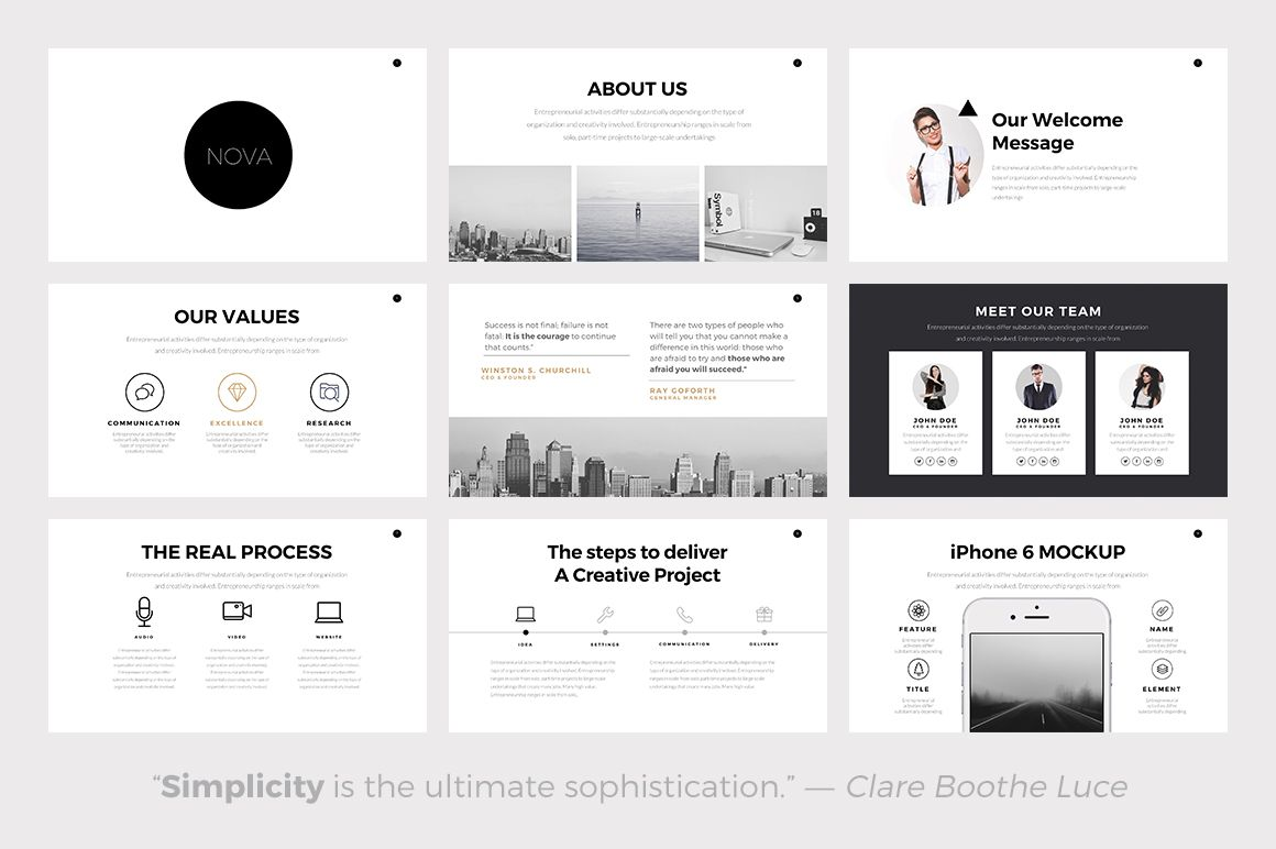 Nova minimal powerpoint template presentations 2 for Minimalist powerpoint template free