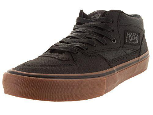e06adee714 Vans Men s Half Cab Pro (Xtuff) Black Gum Skate Shoe 9.5 ...