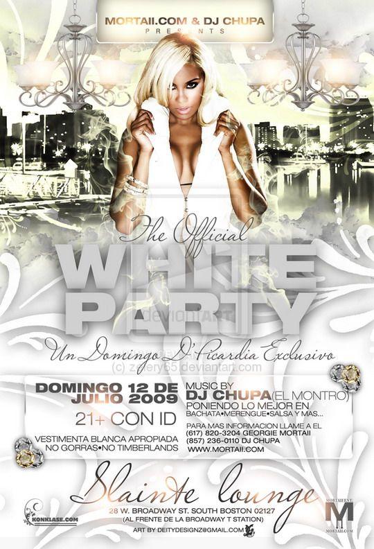White Party Flyer  White Party    Party Flyer Design