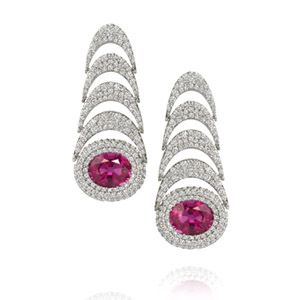084fb612fd4 Amsterdam Sauer Earrings - Atrium Earrings - In 18-kt white gold with red  tourmaline
