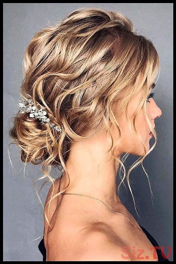 46 Unforgettable Wedding Hairstyles for Long Hair 2019 messy updo hairstyle with hair vine for rustic country weddings 46 Unforgettable Wedding Hairstyles for Long Hair 2...